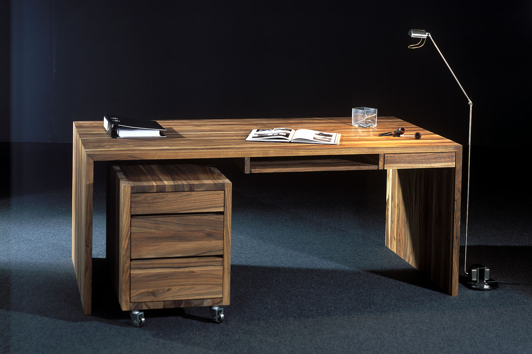 schreibtisch lupo lupus73 exklusive massivholzm bel. Black Bedroom Furniture Sets. Home Design Ideas